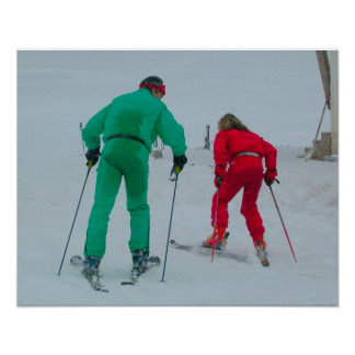 Cross country skiing poster
