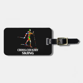Cross-Country Skiing Tag For Luggage