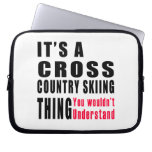 Cross Country Skiing Thing Designs Laptop Sleeve