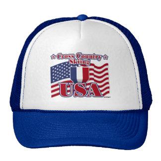Cross Country Skiing USA Hat