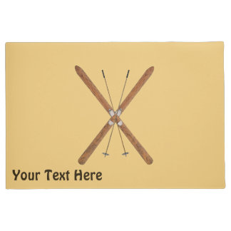 Cross-Country Skis And Poles Doormat