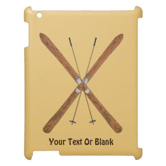 Cross-Country Skis And Poles iPad Case