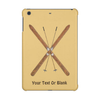 Cross-Country Skis And Poles iPad Mini Covers
