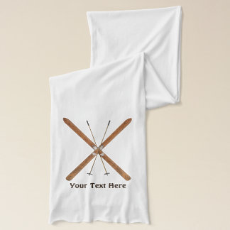 Cross-Country Skis And Poles Scarf