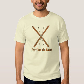 Cross-Country Skis And Poles T-Shirt