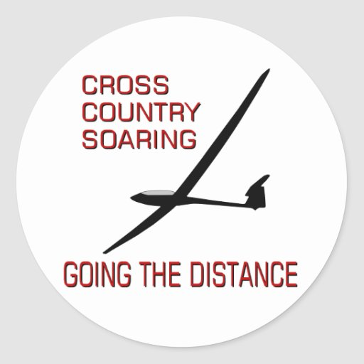 Cross Country Soaring ... Going the Distance Sticker