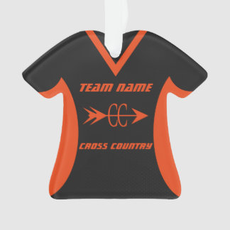 Cross Country Sports Jersey Orange and Black Ornament