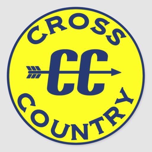 Cross Country Round Stickers