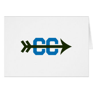 CROSS COUNTRY SYMBOL GREETING CARD