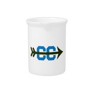 CROSS COUNTRY SYMBOL BEVERAGE PITCHER
