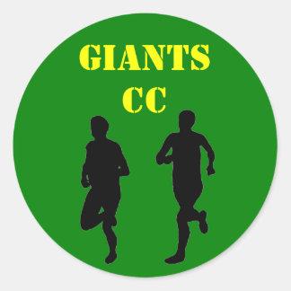 Cross Country team Round Sticker