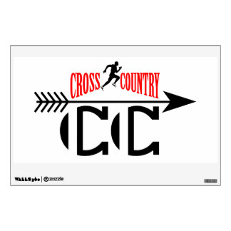 Cross country wall sticker