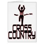 CROSS COUNTRY WINNER - FINISH LINE CARD