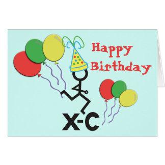 Cross Country XC Runner Happy Birthday Cards