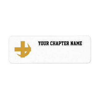 Cross Crescent Gold Custom Return Address Labels
