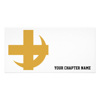 Cross Crescent Gold Photo Card