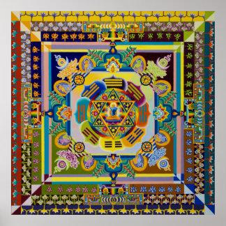 Cross Cultural Mandala Poster