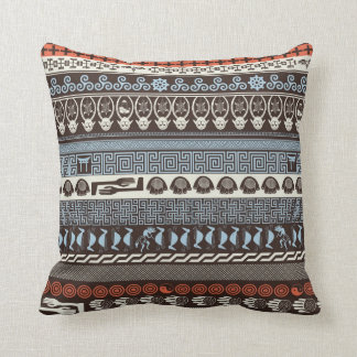 Cross Culture - Multicultural Pattern Throw Pillow