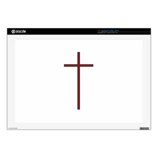 """Cross Decal For 17"""" Laptop"""