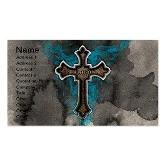 Cross del señor tarjetas personales