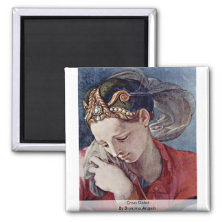 Cross Detail By Bronzino Angelo 2 Inch Square Magnet