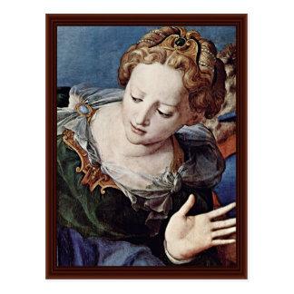 Cross Detail By Bronzino Angelo Postcard