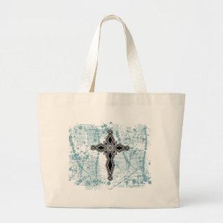 Cross diamond black solid bg bag