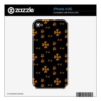 Cross Dog bones and Paw prints Skins For The iPhone 4