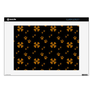 "Cross Dog bones and Paw prints 13"" Laptop Decal"