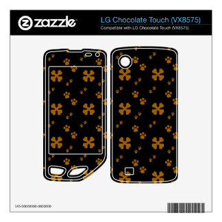 Cross Dog bones and Paw prints LG Chocolate Touch Skins