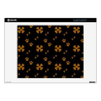 "Cross Dog bones and Paw prints 14"" Laptop Skin"