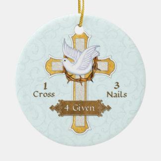 Cross Dove 4 Given Christmas Ornament