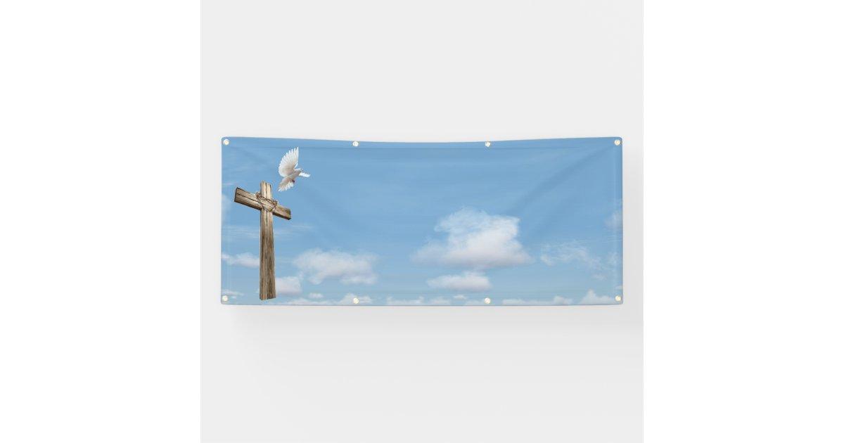 Cross Dove Sky Blank Church Template Banner