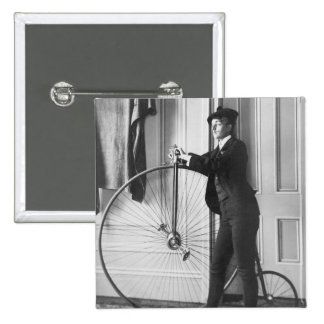 Cross-Dressed Cyclist, 1890 Pinback Buttons
