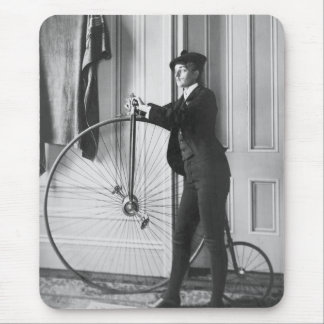 Cross-Dressed Cyclist, 1890 Mouse Pad