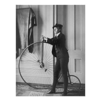 Cross-Dressed Cyclist, 1890s Poster