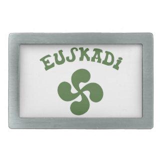 Cross Euskadi Basque Rectangular Belt Buckle