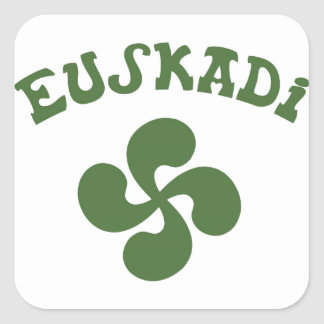 Cross Euskadi Basque Square Sticker