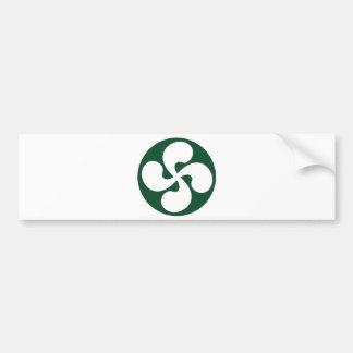 Cross extruded Basque Bumper Sticker