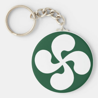 Cross extruded Basque Key Chains