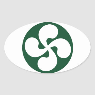 Cross extruded Basque Oval Sticker