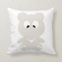 Cross Eyed BEAR Throw Pillow