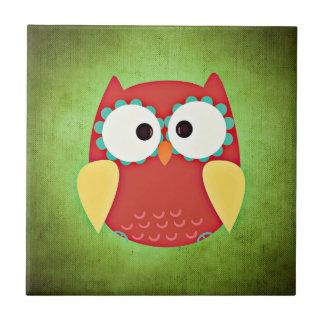 Cross Eyed Owl Tile