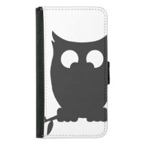 Cross Eyed OWL Wallet Phone Case For Samsung Galaxy S5