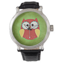 Cross Eyed Owl Wrist Watch
