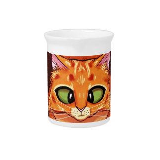 Cross Eyed Pretty Kitty Drink Pitcher