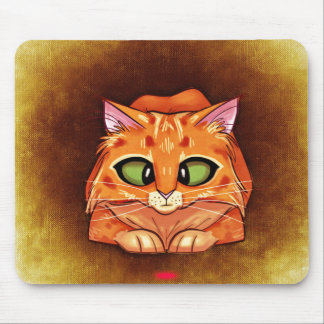 Cross Eyed Pretty Kitty Mouse Pad