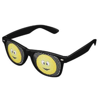 Cross Eyed Smiley Face Retro Sunglasses
