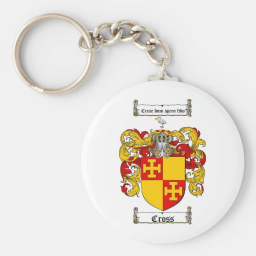 CROSS FAMILY CREST -  CROSS COAT OF ARMS KEY CHAIN