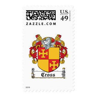 Cross Family Crest Postage Stamps